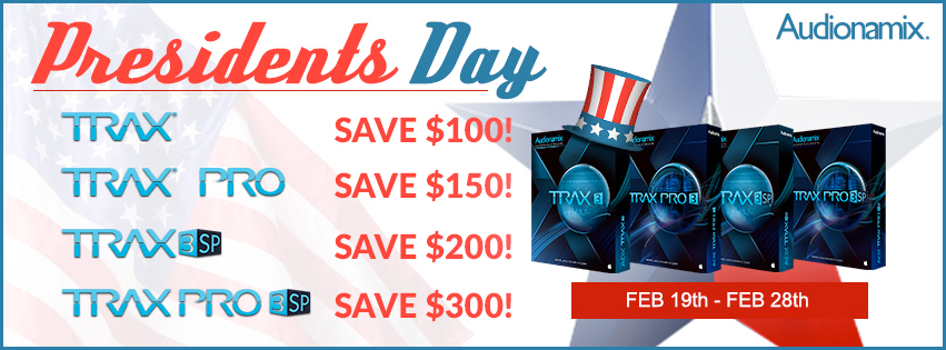 Audionamix Presidents Day Promo