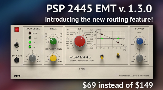 PSP Audioware 2445 EMT June Re-Intro Promo