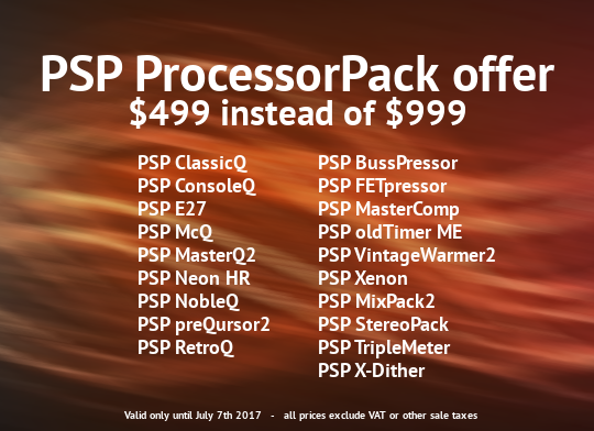 PSP Audioware Processor Pack Sale