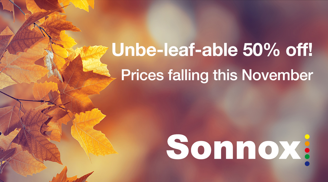 Sonnox Autumn Sales