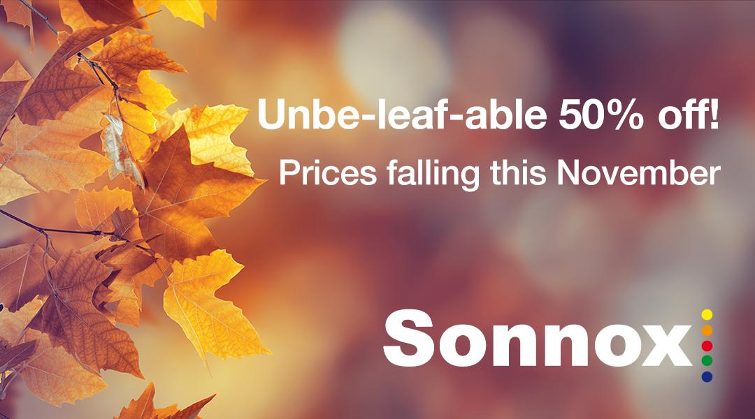 Sonnox Autumn Sales