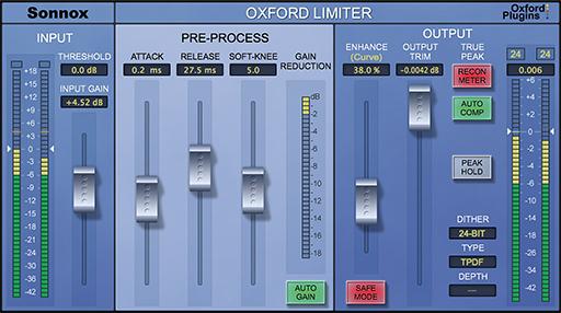 Sonnox Oxford Limiter v2