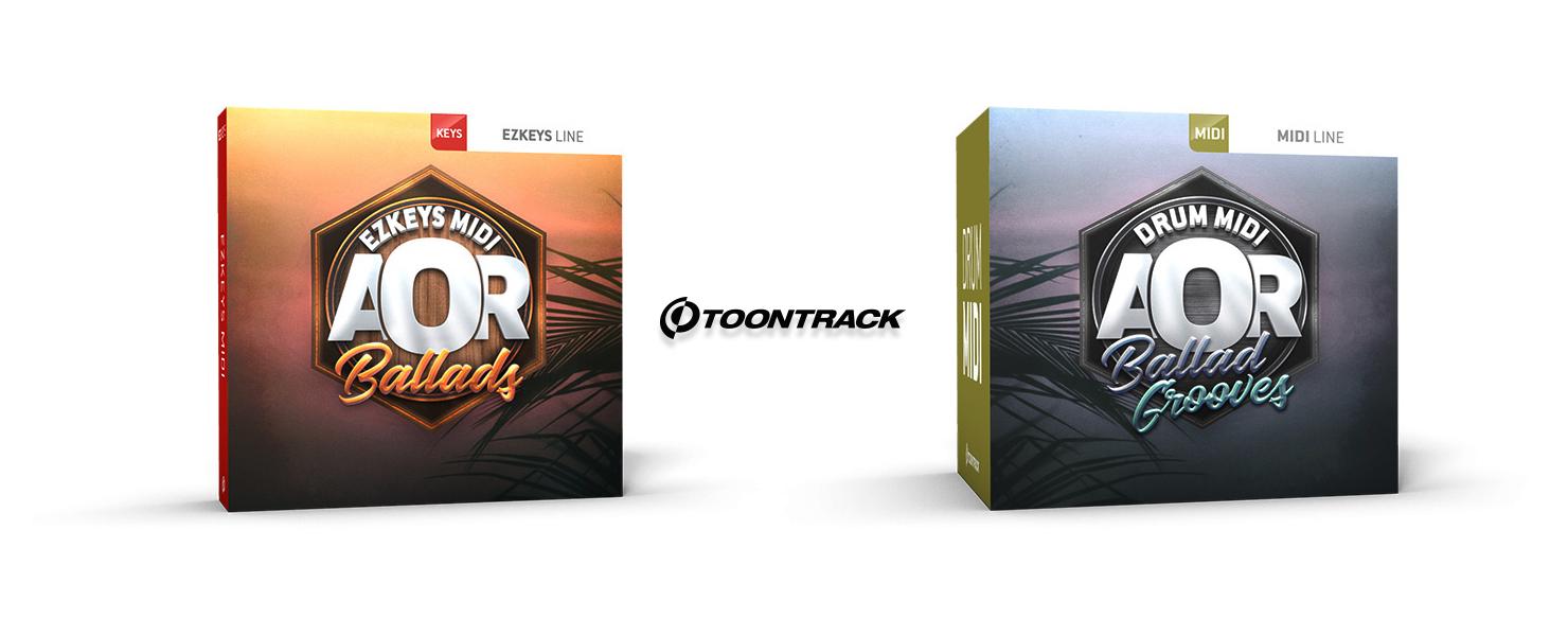 Toontrack AOR Ballad MIDI Packs