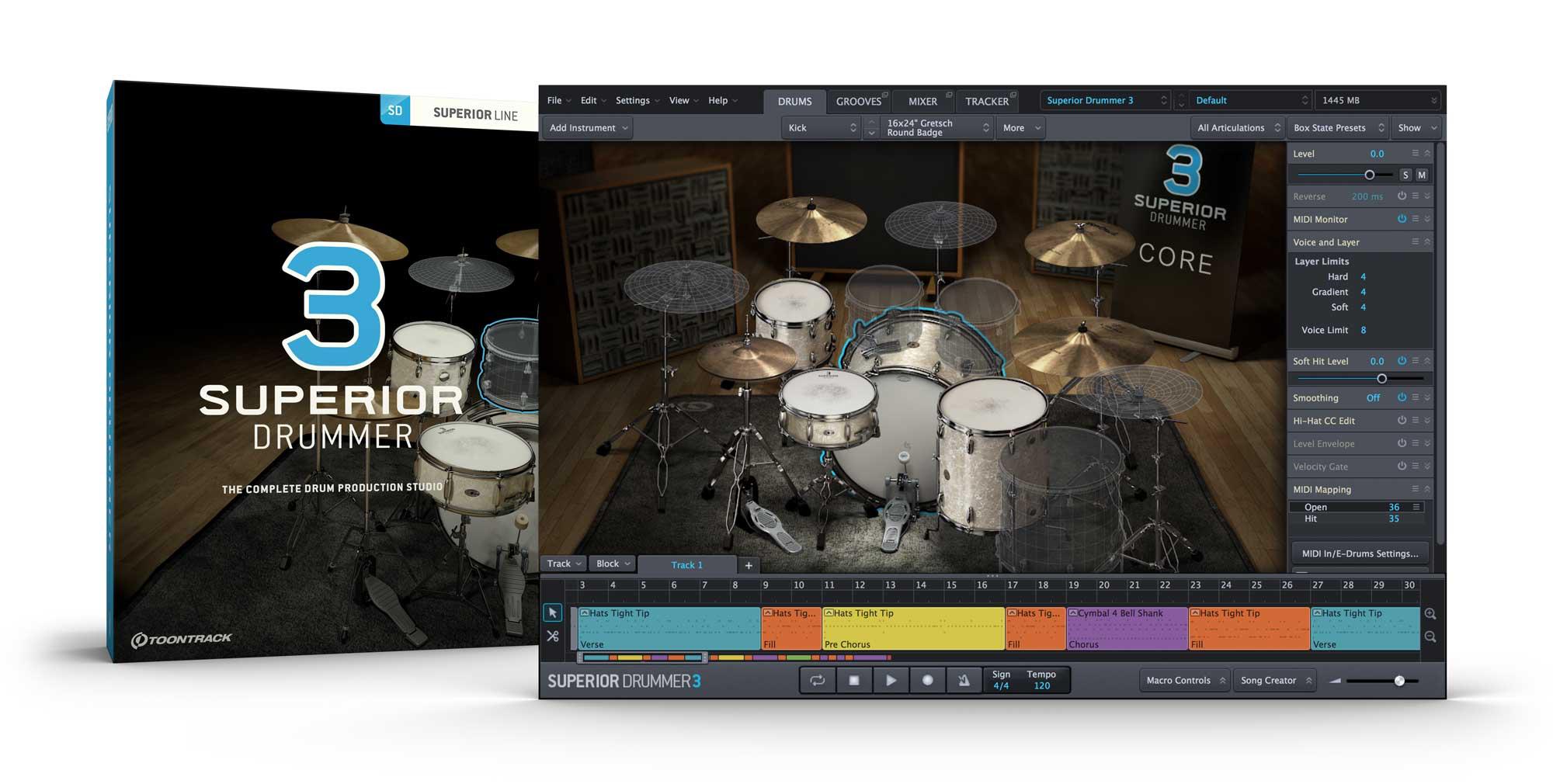Toontrack Superior Drummer 3