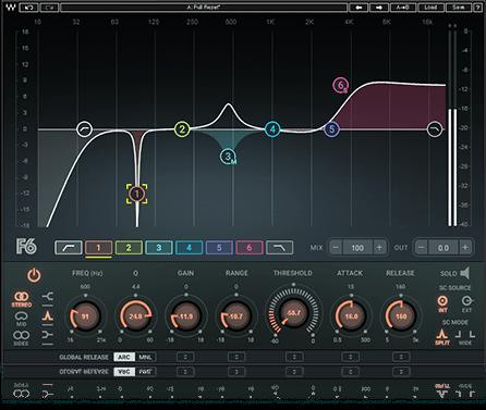Waves F6 Floating-Band Dynamic EQ